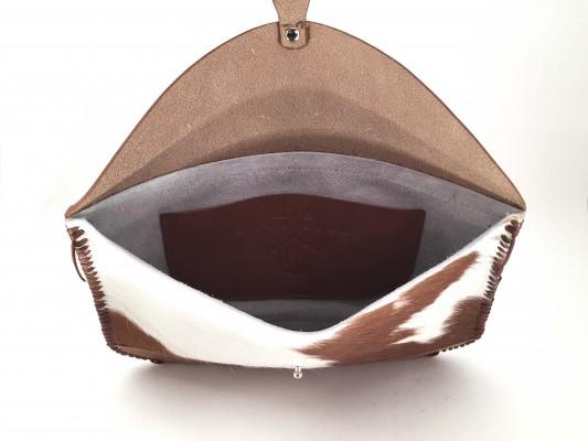 Hair on Hide Clutch – Brown - Inside