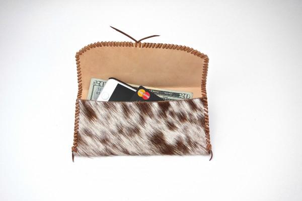 Hair on Hide Wallet - Open